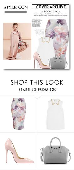 """""""Blind to see, the beauty in me"""" by ayannap ❤ liked on Polyvore featuring Miu Miu, Christian Louboutin, Givenchy, women's clothing, women, female, woman, misses and juniors"""