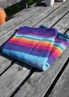 Girasol Reverse Rainbow thick twill purple.