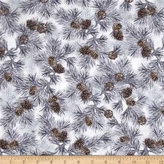 Designed by Maria Kalinowski for Kanvas, in association with Benartex, take a trip to the great outdoors with this cotton print fabric is perfect for quilting, apparel, and home decor accents. Colors include shades of grey, brown and white.
