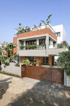 Box House Design, Architect Design House, 2 Storey House Design, Bungalow House Design, Small House Design, Modern House Design, Architecture Design, House Design Pictures, Indian Home Design