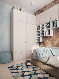 Childrens Bedroom Wardrobe Dressing Unit Study