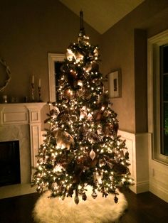 A Pottery Barn Christmas Tree--there are straight up woodland animals in this thing!:)