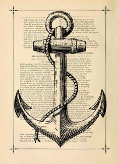 Nautical art Poster Print set Antique drawing by eebookprints