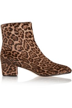 fd875522bc4 Gianvito Rossi - Leopard-print calf hair ankle boots