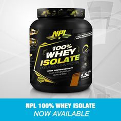 NPL's 100% Whey Protein Isolate is a low-carb, high-protein, great-tasting protein supplement, that delivers the fastest digesting protein source available to build and maintain lean muscle mass.   Whey Protein Isolate is the cleanest source of protein with the highest bioavailability among complete proteins. 100 Whey Protein, High Protein, Complete Protein, Whey Protein Isolate, Protein Supplements, Muscle Recovery, Protein Sources, Muscle Mass, The 100