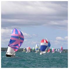 Spinnakers in Charlevoix where my Aunt Judy lives