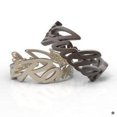 Jedes Stück ist einzigartig wie du! Ringe aus Edelstahl oder 925 Sterling Silber von uns mit Liebe modelliert und mittels 3D Druck für dich produziert :) Unique, Stainless Steel, Printing, Silver, Rings