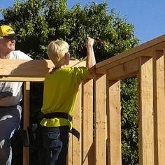 #amylilfire  and Rahn working on his #tinyhouse by bettypeeblesallen