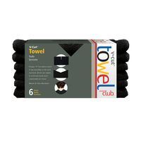 PRODUCT CLUB -V-CUT TOWELS - BLACK 6 PK