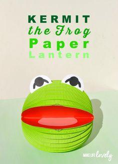 Kermit the Frog Muppets Paper Lantern DIY… too cute!