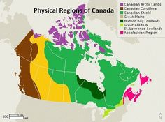 Physiographic Regions Of Canada Glog Social Studies Curriculum, 6th Grade Social Studies, Teaching Social Studies, Geography Of Canada, World Geography, Geography Map, Geography Classroom, Teaching Geography, Physical Geography
