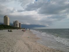 In Naples, FL. Weird skies as a storm moves in.