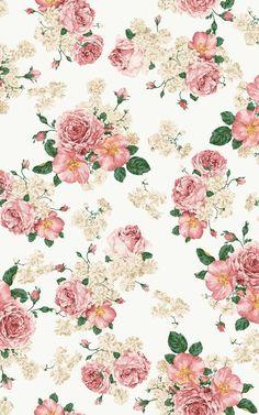 Digital Download  Floral Pink Background Wallpaper | Etsy