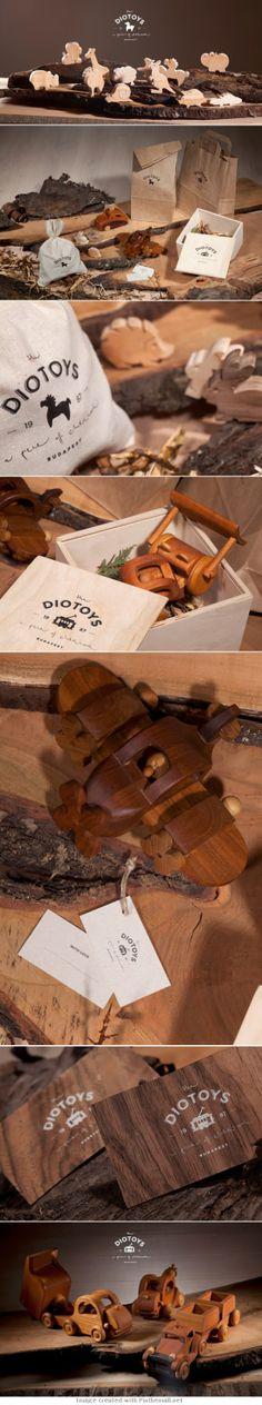 DIOTOYS juguetes en madera, #diseño #rústico y #vintage