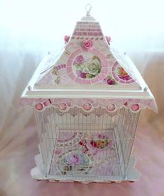 Shabby Romantic Pink Vintage Birdcage