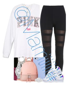Last Sol for me ! by marriiiiiiiii on Polyvore featuring polyvore, fashion, style, adidas, MICHAEL Michael Kors, FOSSIL, NYX and clothing