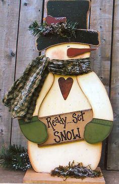 Wood Ready Set Snow Snowman, Snowmen & Frosty Friends Craft