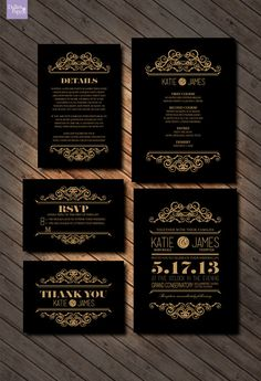 Wedding Invitation printables Intricate elegant by DallinsPaperie