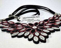 Native American necklace Spring leather anniversary by MammaMiaArt