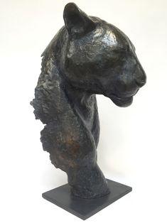Fragment De Panthère Noire, sculpture en bronze, numérotée et signée Florence Jacquesson.