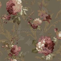 Classical roses chique behang 1208 uit de collectie Carlotta van Noordwand is verkrijgbaar bij kleurmijninterieur