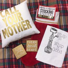Cheeky pillows sassy tea towels cute Christmas plaques!! Last minute gift ideas anyone? #shopamelias
