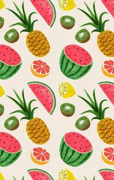motif de papier peint fruits rafraîchir les murs