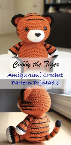 Amigurumi Crochet Pattern - Cubby the Tiger #ad #amigurumi #amigurumidoll #amigurumipattern #amigurumitoy #amigurumiaddict #crochet #crocheting #crochetpattern #pattern #patternsforcrochet #printable #instantdownload #pdf