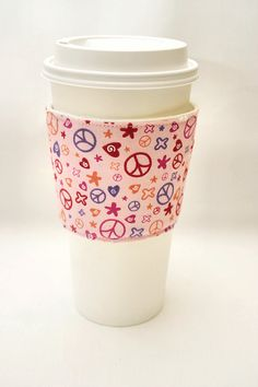 Peace Sign coffee cozy......LOVE this!