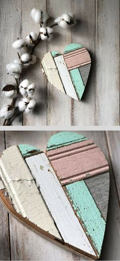 I really like how the different textures and finishes look next to each other! Small reclaimed wood heart, Valentine Heart, Girl Nursery Decor, Shabby Chic Decor, Fixer Upper Decor, Farmhouse Decor, Rustic Farmhouse Nursery, Shabby Chic Nursery, Bedroom Decor, Heart Sign, Farmhouse Wall Art, Gallery Wall Ideas, Farmhouse Wedding Decor, Baby Shower Gift Idea #ad #shabbychicwedding #shabbychicbedrooms