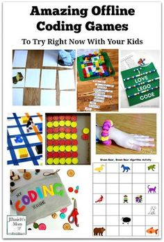 Amazing Offline Coding Games To Try Right Now With Your Kids - Please stop by and see this collection of printables, table top and floor activities that can be used to explore coding with your children at home or students at school. A number of coding and algorithm printables are available.