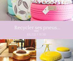 Recycler ses #pneus en #poufs c'est possible et en plus c'est super joli ! Lancez vous ! #DIY
