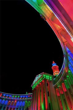 Holiday Lights on the Civic Center in downtown Denver, Colorado Living In Colorado, State Of Colorado, Colorado Homes, Denver Colorado, Denver City, Holiday Lights, Christmas Lights, Christmas Decor, Vacation Spots