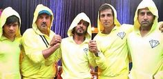 "As our director #FarahKhan rightly puts it ""The very macho boys of #HNY.. even in lemon jackets"""