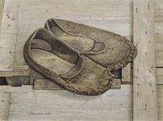 Jopie Huisman – Mijn pantoffels 1980 1 Anton Pieck, Realistic Paintings, Oil Paintings, Walk In My Shoes, Dutch Painters, Dutch Artists, My Heritage, Painted Shoes, Illustrations