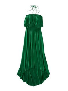 Mossimo Petites Hi-Lo Halter Maxi Dress  no one ever needs know this lux emerald green dress was under 30dollars!