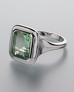 Fluoritring aus Silber 390329 3-3208 Ring, Fluorit hellgrün octagon 11x9mm Smaragdschliff ca. 4,2ct, 925 silber #sognidoro #sogni #doro #schmuck #edelstein #silber
