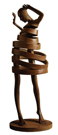 """Mira"" bronze sculpture by Isabel Miramontes - photo from Casart; 24"" x 8"" x 8"""