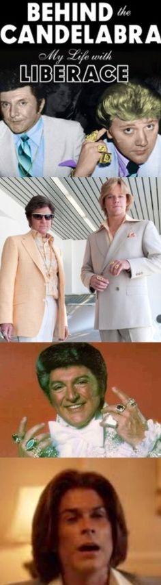 Blingy Moët & Chandon Toasts HBO's Tribute To Liberace, See The Onscreen Hairdos Of Michael Douglas & Matt Damon.