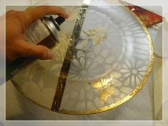 Oriental, Stencil, Tray, Home Decor, Boxes, Decoration Home, Room Decor, Stenciled Table, Trays