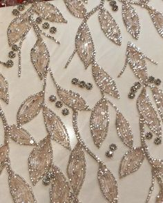 Terrific Images zardozi Embroidery Designs Thoughts Zardozi – Her Crochet Zardozi Embroidery, Hand Embroidery Dress, Tambour Embroidery, Couture Embroidery, Beaded Embroidery, Couture Beading, Beaded Lace, Bead Embroidery Tutorial, Bead Embroidery Patterns