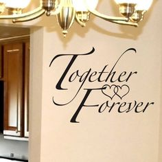 Vinyl Wall Words - Together Forever