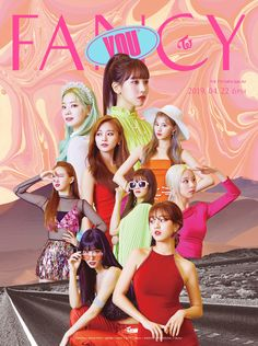 TWICE's 'Fancy You' poster / teaser. I fancy Momo - (and Jihyo - hell, fancy 'em all). Nayeon, K Pop, Kpop Girl Groups, Korean Girl Groups, Kpop Girls, Extended Play, Fancy, Shy Shy Shy, Super Junior T