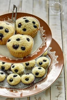 Muffins with aronia and coconut