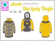 Ebook Hoodie und Sweatkleid Big Lady Tasja Gr.46-58