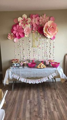 Pink and Gold Baby Shower Party Ideas - . Pink and Gold Baby Shower Party Ideas – Shower Party, Baby Shower Parties, Baby Shower Themes, Baby Shower Gifts, Shower Ideas, Baby Shower Roses, Shower Favors, Baby Girl Birthday Decorations, Baby Shower Wall Decor