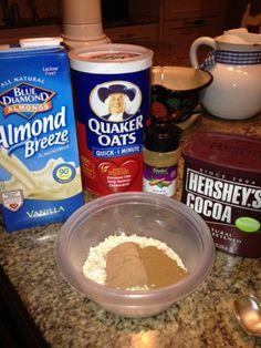 mexican chocolate breakfast shake.