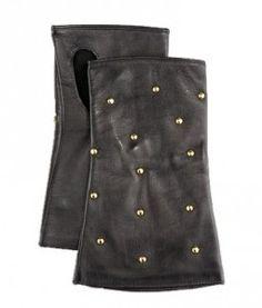 accessori, fingerless studdedleath, studdedleath glove, product fingerless, portolano product, gloves, leather, black, fingerless glove
