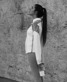 Clara Bondon #chemise #neoprene #blanc