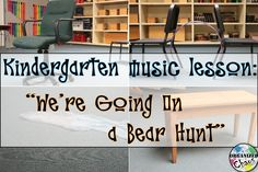 "Organized Chaos: Teacher Tuesday: kindergarten lesson for ""Going On A Bear Hunt"". Ideas for lessons using the book to teach vocal timbres, steady beat, and directions."